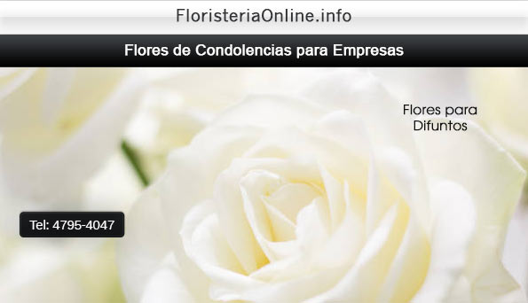 Flores para dar condolencias