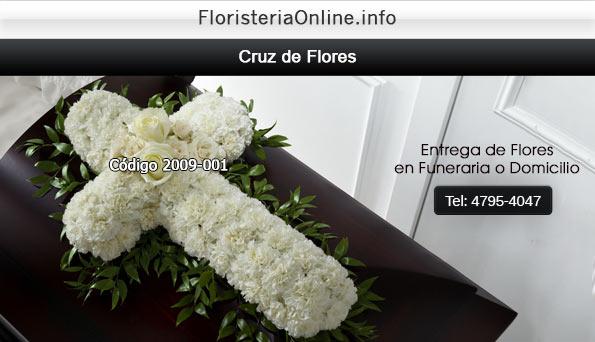 Floristeria Online en Guatemala - Cruz de flores naturales para colocar sobre ataúd