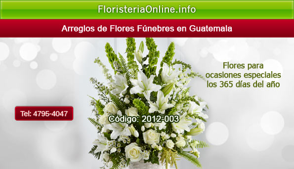 Envio de flores a funeraria en Guatemala