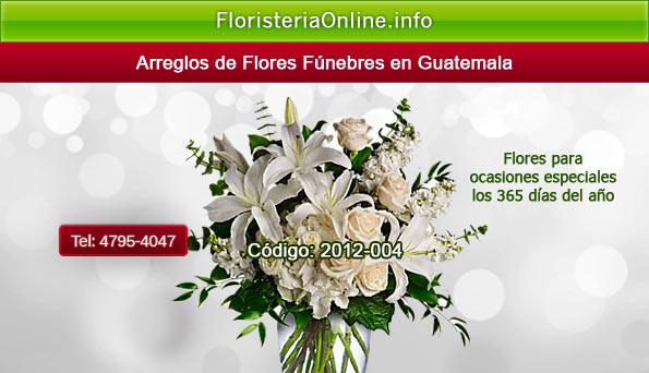Envios de flores fúnebres en la capital de Guatemala y sus alrededores