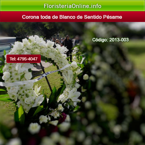 Coronas florales en Guatemala de color blanco