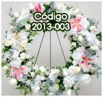 coronas bellas de flores para enviar a funerales
