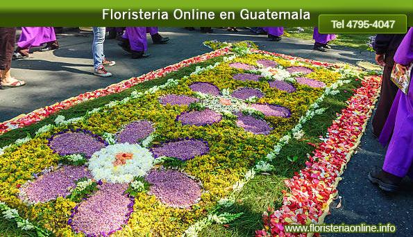 flores para elaborar alfombras en guatemala