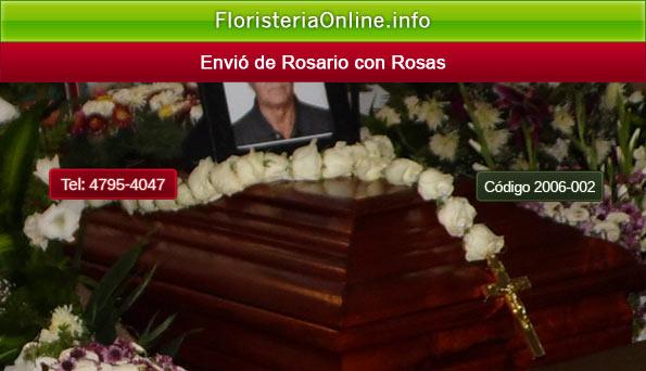 Envió de rosario de rosas a funeraria