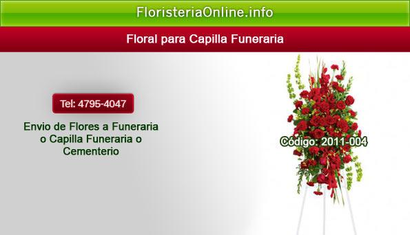 Arreglos florales para velación de restos morales en Funeral