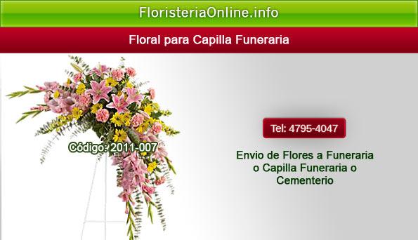 Flores bellas para velación en capilla funeraria en Guatemala
