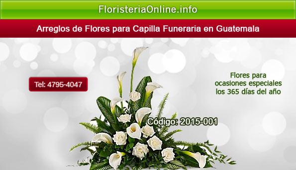 Envió de flores de pésame en Guatemala