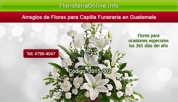Flores para presentar pésame en Guatemala