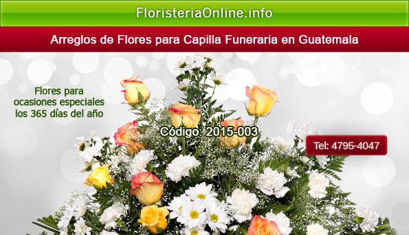 Arreglos florales para pésame en Guatemala