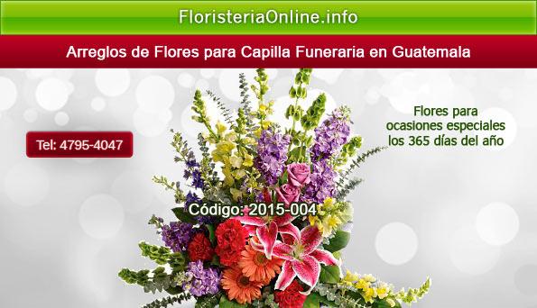 Arreglos florales de pésame en Guatemala