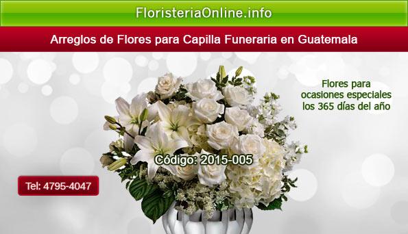 Envió de flores para pésame en Guatemala