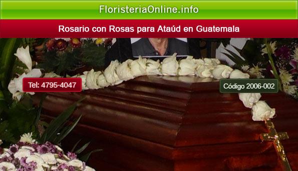 Rosario con rosas en Guatemala